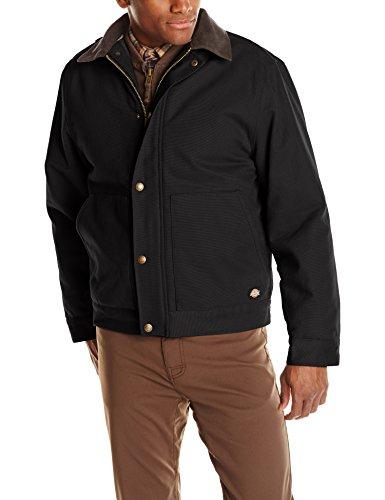 Dickies Duck Jacket (Dickies Men's Sanded Duck Sherpa Lined Jacket, Black, X-Large)