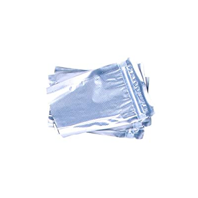 "4"" x 6"" Clear & Metallic Vacuum Sealer Bags With Zipper SNS 1400"