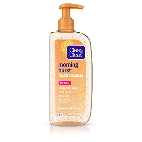 Clean & Clear Morning Burst Oil-Free Facial Cleanser with Vitamin C & Ginseng, Gentle Daily Face Wash for All Skin Types, 8 fl. oz