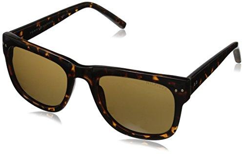 Tommy Hilfiger Men's THS 153 Wayfarer Sunglasses, Tortoise, 53 - Wayfarer Tommy Hilfiger