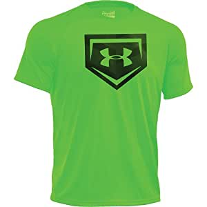 Under Armour 1242130 Cage to Game T - Hyper Green/White XL