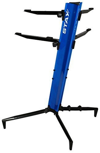Tower Series 46 Double-Tier Keyboard Stand Blue (TOWER 1300-02-BL)