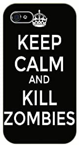 iPhone 5 / 5s Keep calm and kill zombies - black plastic case / Keep calm, dead, walking