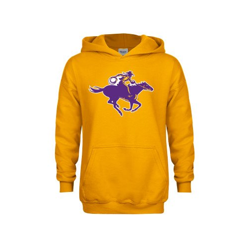Hardin-Simmons Youth Gold Fleece Hoodie Cowgirl Riding