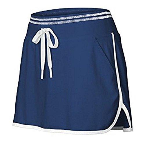 Wilson Hall of Fame Women's Skirt - New Navy/White (LG) (Skirt Wilson White)