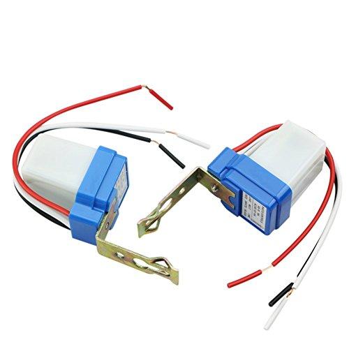 Photocell Night Light - AC DC 12V 10A Auto On Off Photocell Light Switch Photoswitch Light Sensor Switch (12V-2PC)