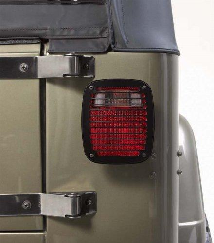 Rugged Ridge 11236.20 Billet Style Black Stone Guard Kit - 6 Piece 95 Jeep Wrangler Stone Guard