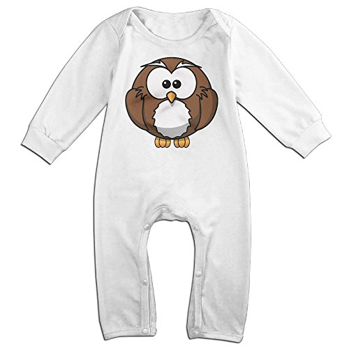 [VanillaBubble Cute Owl For 6-24 Months Toddler Custom Long Sleeved Tee White Size 6 M] (Fire Dog Costume For Toddler)