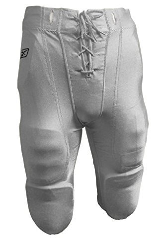 New Reebok RBK Youth Slotted Football Dazzle Finish Game Practice Pants White (Large) (Dazzle Cloth Youth)