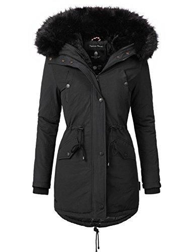 Mari Koo Manteau pour femme manteau d'hiver veste parka d'hiver 1?3?couleurs 16?kombinations possibilits de Mix & Match Tiramisu (vgtalien fabriqu) 2?couleurs + Camouflage XS  5?x l Noir