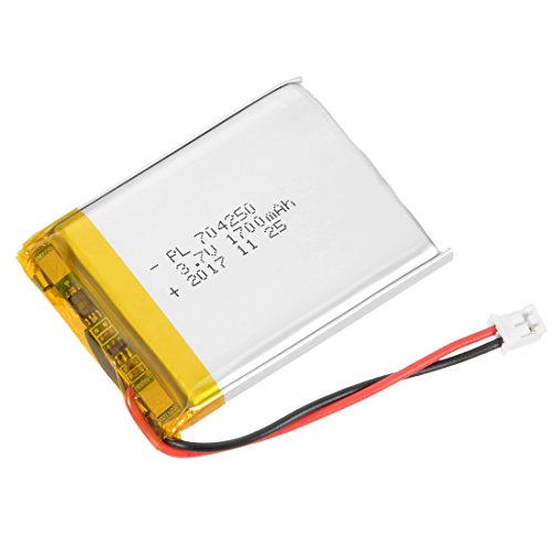 uxcell® Power Supply DC 3.7V 1700mAh 704250 Li-ion Rechargeable Lithium Polymer Li-Po Battery