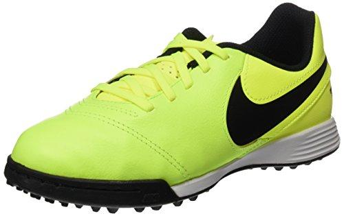 Nike Tiempox Legend Vi Tf, Botas de Fútbol Unisex Niños Verde (Volt / Black-Volt)