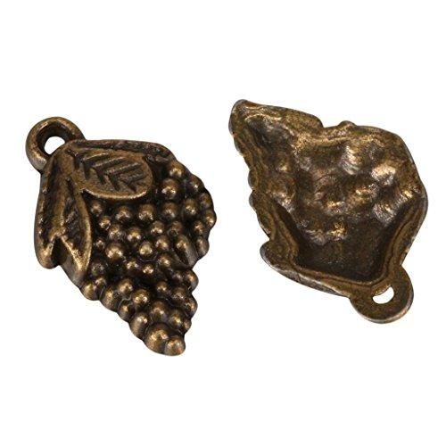 10 x Grape Charms 15x11mm Antique Bronze Tone for Bracelets Necklace Earrings #MCZ335