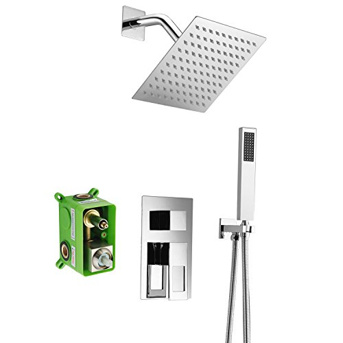 Sumerain Shower Faucet Sets Complete,Rough-in Valve Included and Full Metal Components in Chrome Finish,Customized acceptable - Complete Shower Set