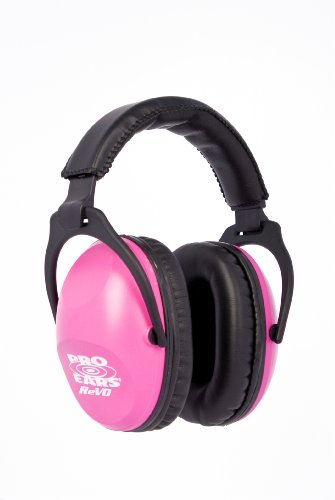 Pro Ears - ReVO - Hearing Protection - NRR 25 - Youth and Women Ear Muffs - Neon Pink