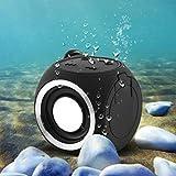 Portable Mini Bluetooth 4.1 Waterproof Outdoor / Shower Speaker, with 3w Speaker/hook Up/mic/hands-free Speakerphone (Black)