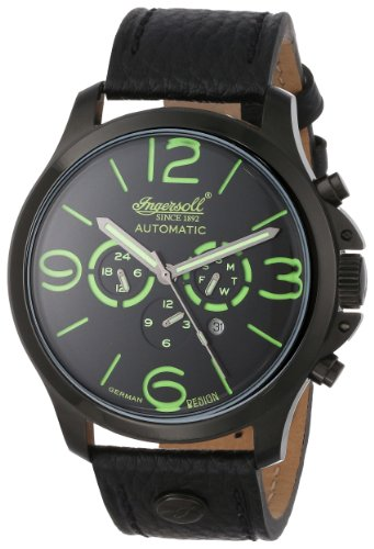 Ingersoll Men's IN1503BKGR Totem Analog Display Automatic Self Wind Black Watch