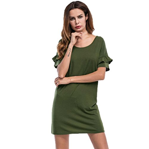 toopoot-womens-casual-dress-short-sleeves-dress-for-ladies-m-green