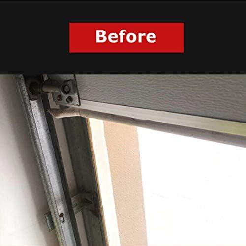 Bebliss 2M Tira de puerta de garaje con solapa eléctrica Tira de goma de sello lateral de puerta de garaje: Amazon.es: Hogar