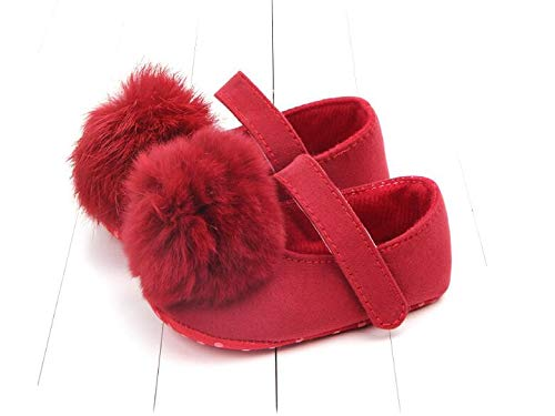 Soft bottom non-slip baby shoes (11cm, Red)