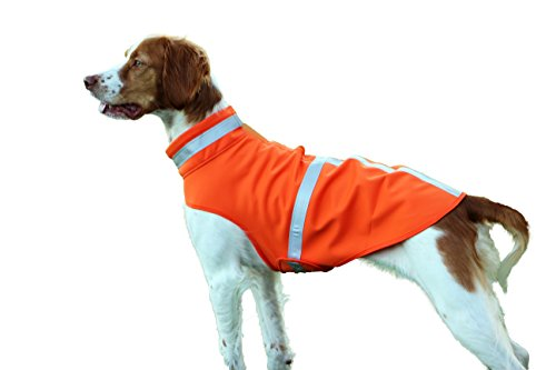 Dog Raincoat - Winter Micro Fleece Jacket for Small, Medium, Large Dogs - Human Grade Fabric For Your Pet - Highly Reflective Orange Vest Provides Safety For Night Walks or Hunting
