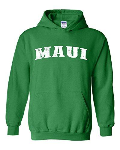Ugo Maui Hawaii Travel Guide Flag What to do in Hawaii? Beaches Near Me Hawaiian Unisex Hoodie - Green Beach Maui