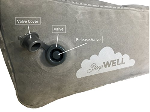 Inflatable Portable Bed Wedge With Quick Inflate/Deflate Valve and Soft Surface by Sleepwell (Image #4)