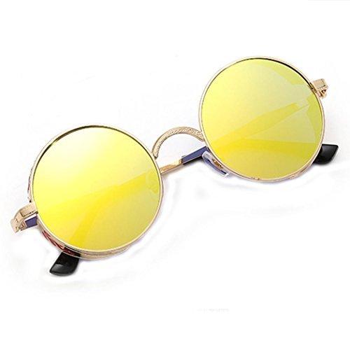 de Mujeres color Moda Hombres verano Color Gradiente Unisex de viajes D Vintage sol ronda de gafas aviador Winwintom 2018 Gafas 5ngYwq8Z