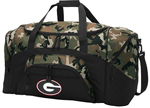 Large Georgia Bulldogs Duffel Bag CAMO University of Georgia Suitcase Duffle Luggage Gift Idea for Men Man Him!