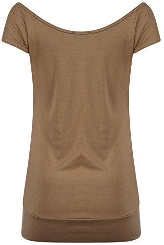 Encolure Nouveaux Pickle Chocolate Purple Shirts Paillettes beurre Mocha florale Hauts Volez T Mesdames Roses dqtqr5