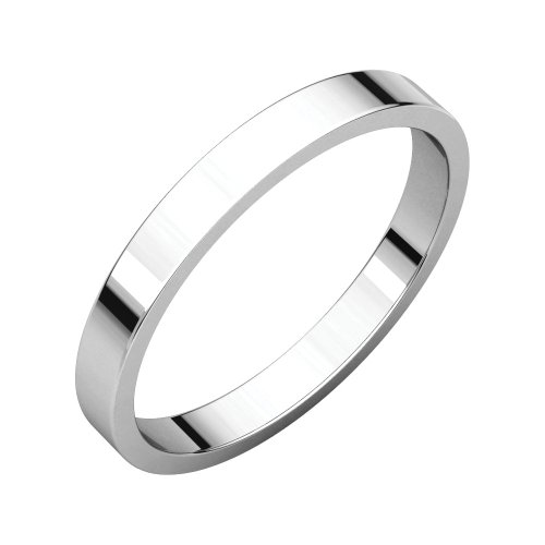- Bonyak Jewelry Palladium 2.5 mm Flat Wedding Band in Palladium - Size 6