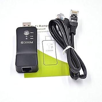 sdfghaWSEfdfghsfgh 300Mbps TV inalámbrica Adaptador WiFi Tarjeta de Red RJ-45 Wi-fi WPS Router Repetidor Modo Ap Universal para Samsung: Amazon.es: Hogar