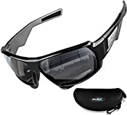 FLEX - Polarized Sunglasses for Men & Women, Tough Matte Black Frame w/HD Lens for Running Ski Cycling Bas