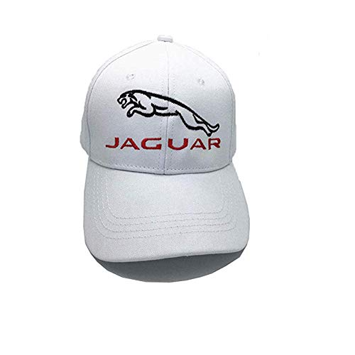24934b81301 Galleon home fashion diy jaguar car logo embroidered baseball cap dad hat  black white adjustable unisex