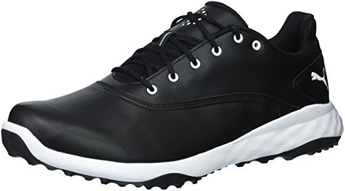 PUMA Golf Men's Grip Fusion Golf Shoe, Black/White, 10.5 Medium US (Best Spikeless Golf Shoes For Walking)