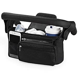 Universal Stroller Organizer with Insulated Cup Holder by Momcozy – Detachable Phone Bag & Shoulder Strap, Fits for…