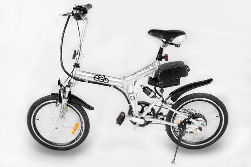 Elektro Fahrrad Klapprad Klapp Fahrrad E-GO! Quick Line Silber