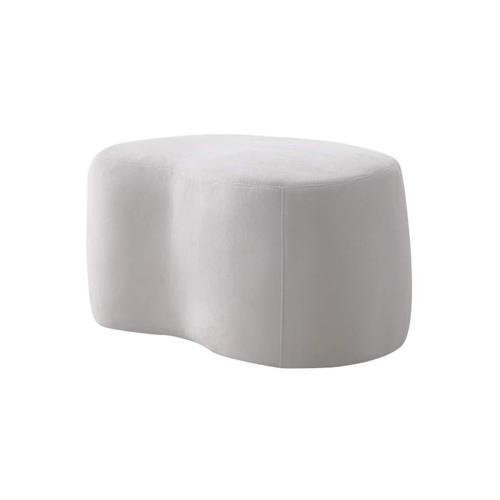 CaoyuPiccolo Sgabello Panca in Tessuto, Panca Morbida, Panca Scarpa, Sgabello Piccolo (colore   Bianca, Dimensioni   80cm)
