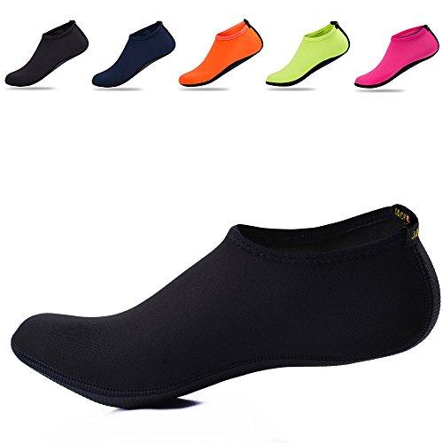 JACKSHIBO Unisexe Barefootshoes Chaussures d'eau Séchage Femmes Rapide Beach Aqua Chaussettes Noir RKGuiTnFZu
