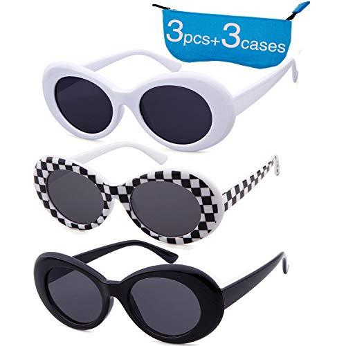 0cacba0807 Authentic Clout Goggles Bold Oval Retro Mod Kurt Cobain Sunglasses Clout  Round Lens