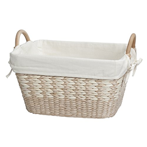 Maize Natural Basket Storage (Creative Bath Towel Utility Basket With Liner, Natural/Bleach)
