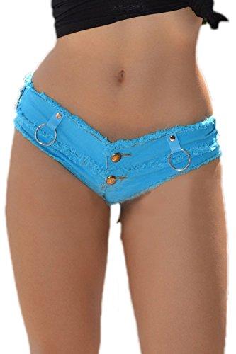 Coup Blue Denim Taille Faible La Club Court Jeans Mini Des En Short PwwOqx0FpA