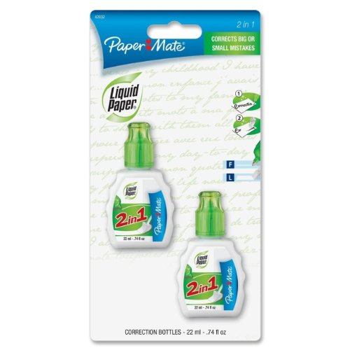 PAP42032 - Paper Mate Liquid Paper 2-in-1 Correction Combo
