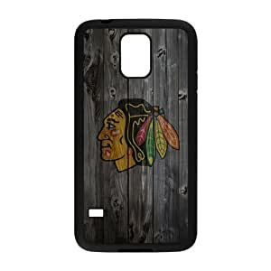 Creative Chicago Blackhawks Unique Printing Art Custom Pattern Phone Case for SamSung Galaxy S5,TPU Diy Cover Case s5-linda710