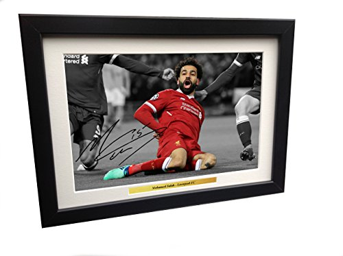 Mohamed Mo Salah 12x8 A4 Signed Liverpool FC - Autographed Autograph Photo Photograph Picture Frame Gift Soccer by Kicks