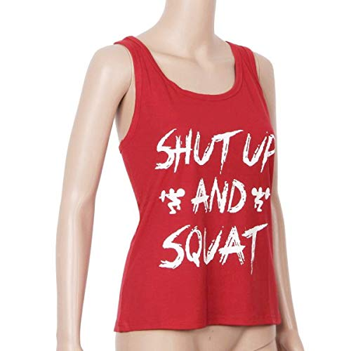 Tops for Women LJSGB Ladies Workout Tank Tops Ladies Yoga Tops Hippie Bluses Ladies Fashion Tops Bluses Red