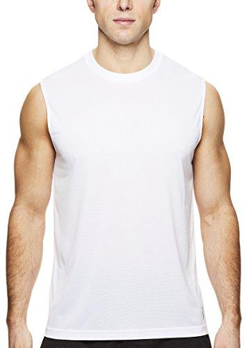 (HEAD Men's Hypertek Mesh Gym Training & Workout Muscle Tank - Sleeveless Activewear Top - Mesh Stark White, X-Large)