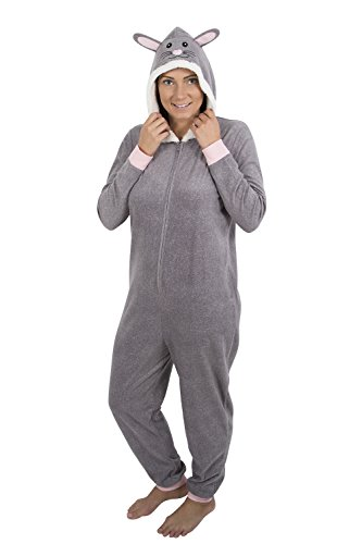 Women's light weight fleece onesie with hoodie 17 ()