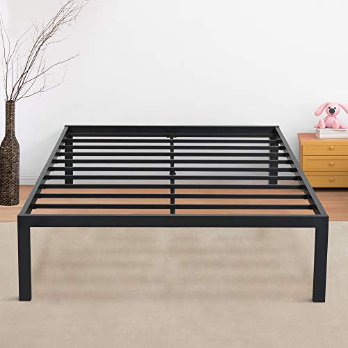 Olee Sleep 18inch Tall  Non-slip Support S-3500 High Profile Platform Bed Frame, Queen