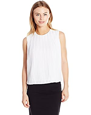 Calvin Klein Women's Petite-Size Pleated Top